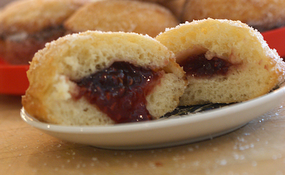 Sufganiyot (Jelly doughnuts) deep-frying rule
