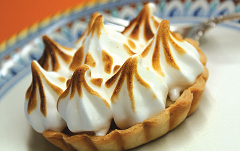 Apple-Meringue Tartlet. Photo by Dan Kacvinski