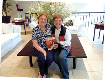 Judy Zeidler, right, visits with Miriam Becker in Buenos Aires, Argentina. Photo courtesy of Judy Zeidler.
