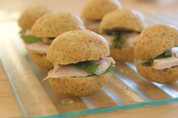 Chicken sliders with Passover Rolls